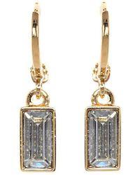 Vince Camuto - Museum Baguette Drop Earrings - Lyst
