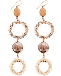 Panacea - Peach Linear Earrings - Lyst