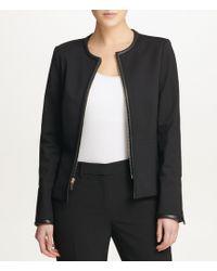 Donna Karan - New York Ponte Knit Zip-front Jacket - Lyst