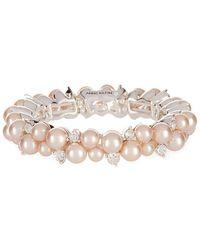 Anne Klein - Pink Pearl Stretch Bracelet - Lyst