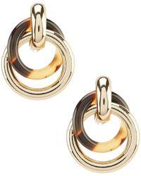 Lauren by Ralph Lauren Tortoise Circle Link Drop Clip-on Earrings - Metallic