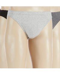 Murano Solid Cotton Bikinis 3-pack - Gray