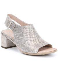 Ecco - Shape 35 Slingback Block Heel Sandals - Lyst