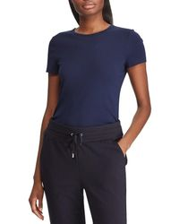 fbe0edfe5 Lauren by Ralph Lauren - Short Sleeves Stretch Cotton T-shirt - Lyst