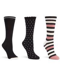 Kate Spade - Three Pack Stripe Trouser Socks - Lyst