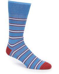 Johnston & Murphy - Men's Birdseye Stripe Sock - Lyst