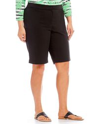 Ruby Rd. - Plus Size Double Face Stretch Shorts - Lyst