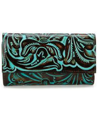 Patricia Nash - Tooled Turquoise Collection Terresa Wallet - Lyst