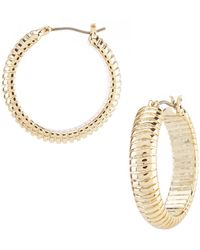 Lauren by Ralph Lauren - Omega Hoop Earrings - Lyst