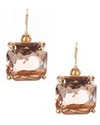 Belle By Badgley Mischka - Square Stone Drop Earrings - Lyst