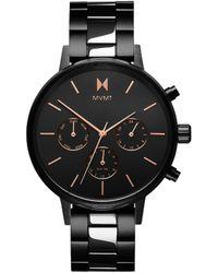 MVMT Nova Chronograph Bracelet Watch - Black