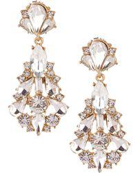 Belle By Badgley Mischka Jonette Chandelier Statement Earrings - Metallic