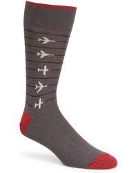 Johnston & Murphy - Men's Novelty Airplane Socks - Lyst
