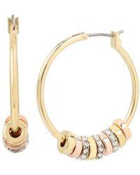 Kenneth Cole   Tri-tone Ring Hoop Earrings   Lyst