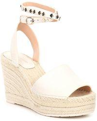 Kate Spade Frenchy Logo Stud Ankle Strap Platform Espadrille Sandals - Multicolor