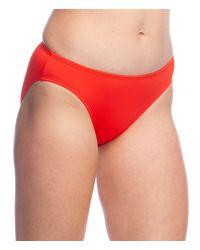 Lauren by Ralph Lauren Core Solid Classic Logo Hipster Bottom - Red