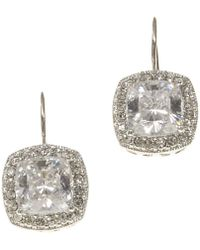 Nadri - Framed Cushion-cut Cz Drop Earrings - Lyst