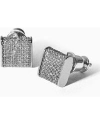 Skagen Merete Silver-tone Glitz Earrings - Metallic