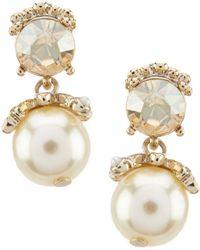 Marchesa - Silk Stone Post Drop Earrings - Lyst