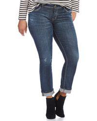 Silver Jeans Co. - Plus Suki Ankle Slim Jeans - Lyst