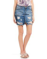 Jessica Simpson - Adored High-waist Denim Miniskirt - Lyst