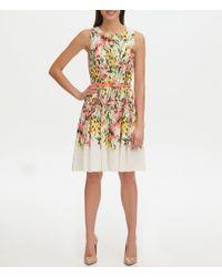Tommy Hilfiger Floral Eyelet Fit & Flare Dress - White