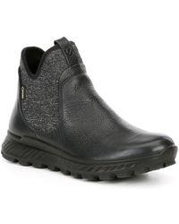 Ecco Exostrike Gtx Waterproof Leather Chelsea Boots - Black