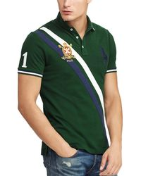 903b151a Ralph Lauren Polo Us Open Custom Big Pony Polo Shirt Slim Fit in Green for  Men - Lyst