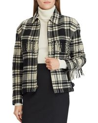 Polo Ralph Lauren - Checked Jacket With Fringe - Lyst
