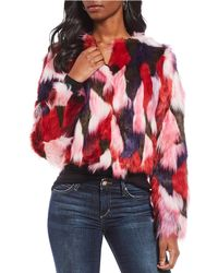 UGG - Lorrena Multi-color Patch Faux Fur Jacket - Lyst