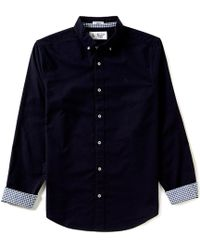 Original Penguin - Slim-fit New Oxford Stretch Long-sleeve Woven Shirt - Lyst