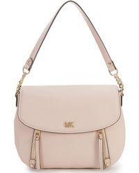 a678dac45525 Lyst - MICHAEL Michael Kors Medium Evie Leather Bag in White
