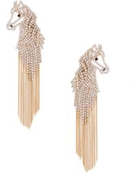 Kate Spade - Wild Ones Horse Statement Earrings - Lyst