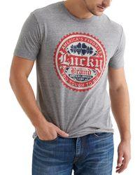 Lucky Brand - Short-sleeve Lucky Circles Graphic T-shirt - Lyst