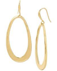 Robert Lee Morris - Hammered Oval Drop Earrings - Lyst
