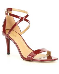 MICHAEL Michael Kors - Ava Patent Leather Dress Sandals - Lyst