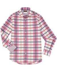 Thomas Dean - Multi-check Long-sleeve Woven Shirt - Lyst