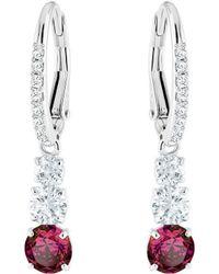 Swarovski - Attract Trilogy Round Pierced Earrings - Lyst