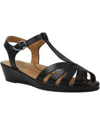 25fde3e720863b Lyst - Fitflop Crystal Z-strap Sandals in Black