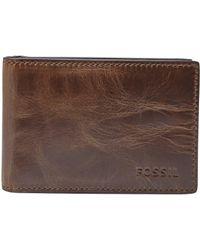 Fossil - Derrick Money Clip Bifold Wallet - Lyst