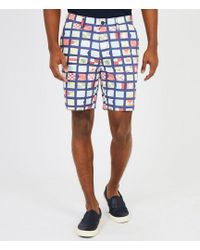 Nautica - Flat-front Scaled Flag Print Classic Fit Shorts - Lyst