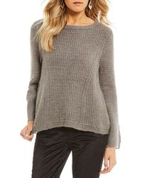 Armani Exchange - Knit Bell Sleeve Pullover - Lyst