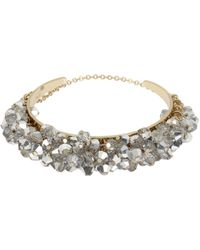 Kenneth Cole - Crystal Shaky Faceted Bead Cuff Bracelet - Lyst