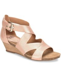Söfft - Vara Leather Wedge Sandals - Lyst