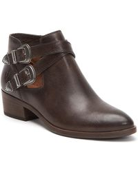 Frye - Ray Western Belt Buckle Detail Block Heel Shooties - Lyst