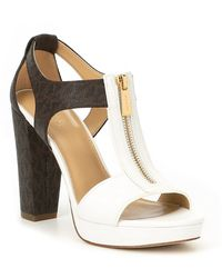 c94132f47 MICHAEL Michael Kors - Berkley Vachetta Leather Block Heel Sandals - Lyst