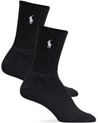 Polo Ralph Lauren - Super-soft Crew Socks 2-pack - Lyst
