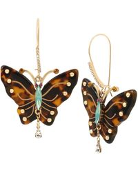 6f3555fe2b1a8 Kate Spade Gold-tone Crystal Butterfly Linear Drop Earrings in ...