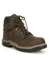9a87b3a78dd Caterpillar Grist Waterproof Steel Toe Work Boot in Brown for Men ...