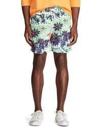 Polo Ralph Lauren 5 Inseam Traveller Beach Bazaar Swim Trunks - Blue